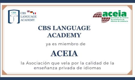 CBS Language Academy ya es miembro de ACEIA