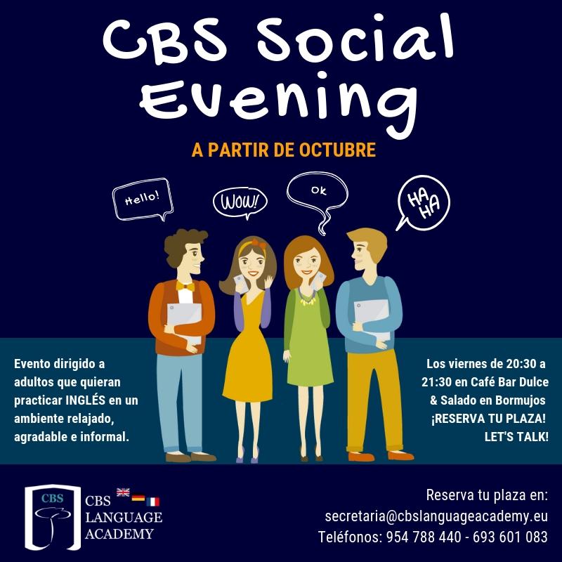 CBS Social Evening Habla inglés en Bormujos Sevilla