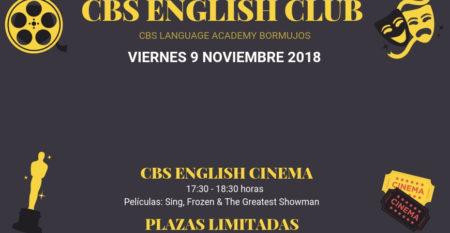 Evento English Club Viernes 9 noviembre 2018