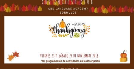 Evento Web- Thanksgiving 23 y 24 Nov 2018 academia bormujos
