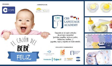 Colabora con el Cajón del Bebé Feliz en CBS Language Academy Bormujos