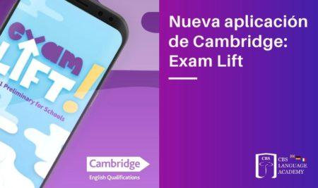 Nueva aplicación de Cambridge: Exam Lift