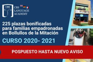 Pospuesto Bonificación Bollullos de la Mitación 2020-21