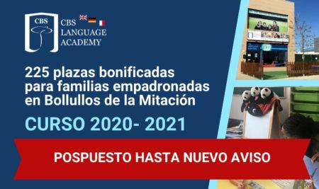 Bonificación Económica 2020/2021 para familias empadronadas en Bollullos de la Mitación