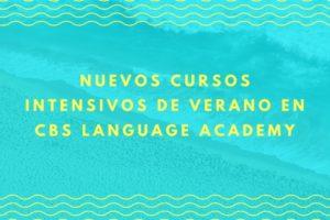 Noticia Nuevos cursos intensivos de verano en CBS Language Academy