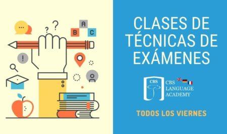 CBS Language Academy ofrece clases de técnicas de exámenes todos los viernes